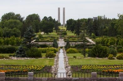 The International Peace Garden near Dunseith, ND on Thursday July 23, 2015. (Grand Forks Herald/ Joshua Komer)